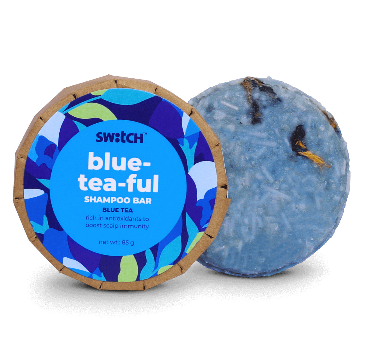 Blue-Tea-Ful Shampoo Bar for Scalp Immunity Hero Image