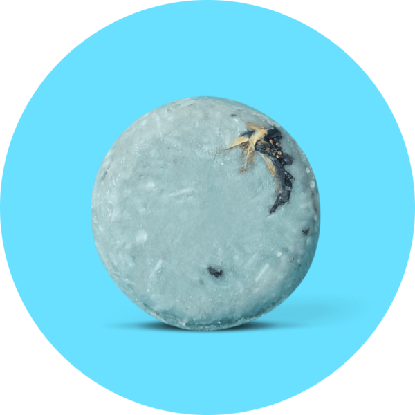 Blue-tea-ful Shampoo Bar Round BG